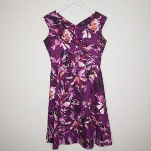 East 5th Purple Pink Floral Dress